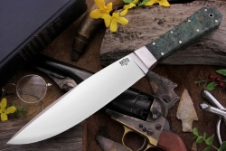 Нож охотничий BARK RIVER Rogue Green Gold Elder Burl