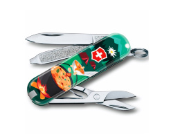 Нож-брелок Victorinox Classic SD Swiss Mountain Dinner (58мм) 0.6223.L1907