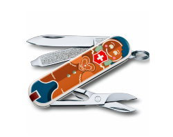 Нож-брелок Victorinox Classic SD Gingerbread Love (58мм) 0.6223.L1909