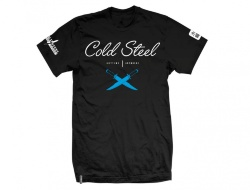 Футболка COLD STEEL Cursive Black Tee Shirt (M) TJ2, размер M