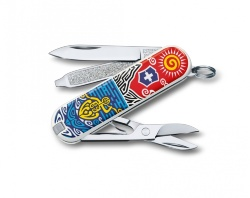 Нож-брелок Victorinox Classic SD New Zealand (58мм) 0.6223.L1806