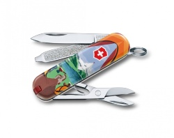 Нож-брелок Victorinox Classic SD Call of Nature (58мм) 0.6223.L1802