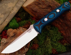 Нож Bark River Bravo1 3VR Blue&Black G-10