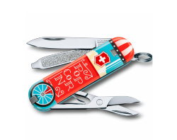 Нож-брелок Victorinox Classic SD Let It Pop (58мм) 0.6223.L1910